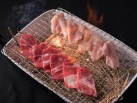 九州産の肉を使用。上質で新鮮な素材の味が凝縮した、名物『藁焼き』