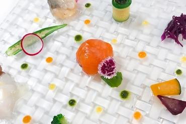 3種の海の幸と10種類の旬野菜のレギュームパレット