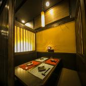 デート向きのシックな個室から宴会に最適な掘りごたつの個室まで