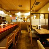 アットホームな雰囲気の中、ゆったり食事を味わえる店