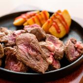 希少部位のイチボとランプを使用した、柔らか贅沢な『赤身サイコロステーキ(200g)』