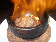 国産牛フィレ肉の石焼ステーキ 120g