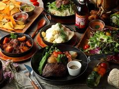 大人気の【葡萄牛のやわらかランプステーキ】をメインにボリュームある逸品料理が詰まったコチラのプラン!!
