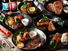 肉の総重量なんと1,5kgオーバーのこちら!イチオシのステーキがまるごと詰まった肉づくし欲張りプランです!