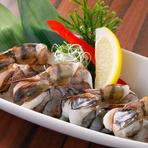 新鮮な大海老をつかい、ウクライナの岩塩をつかってじっくりと魅力を引き出している一品。ぷりっとした食感と、ふわっと広がる甘みは見事なものです。大人だけではなく子供にも愛される人気メニュー。