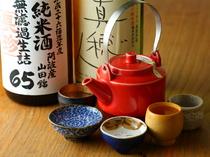 シーズンや日で内容が変わる、豊富な日本酒