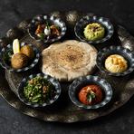 地中海アラビア諸国の伝統的前菜料理『アラビアンプレート』