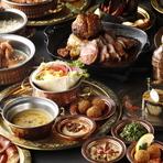 アラブ・地中海料理を中心とした世界の料理。