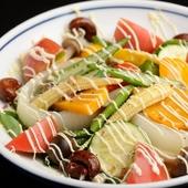 季節の新鮮野菜15種で織りなす 『旬野菜の温サラダ』