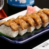 季節の旬魚介が贅沢にのる! 温かな酢飯が魅力『棒寿司』