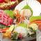 鮮魚が一皿で堪能できる『お造り5点盛り』