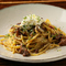 自家製リコッタのせ『煮込み牛すじのラグーソーススパゲッティ』
