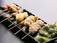 素材の旨味が存分に味わえる『串天ぷら』