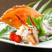 瀬戸内の海の香りを味わう『渡り蟹の酢の物』