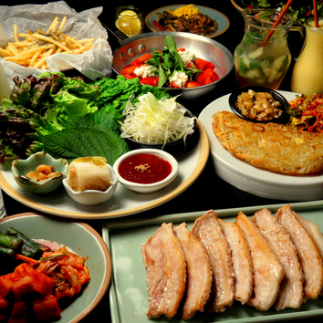 韓国カクテル&サムギョプサルコース