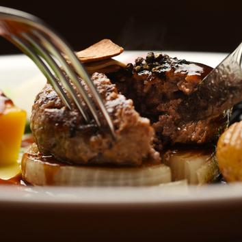 【ランチ】黒毛和牛ハンバーグランチ