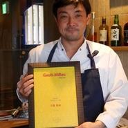 """フランスで最も影響力があるとされるレストランガイド「ゴ・エ・ミヨ」""""今年のシェフ賞""""を受賞致しました!"""