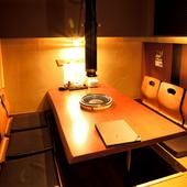 人数に合わせて利用しやすい、豊富なテーブル席