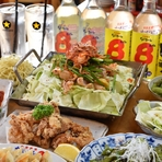 不動のNo1メニュー餃子も入ったお得コース! メイン料理は岐阜の郷土料理『親鶏けいちゃん焼き』