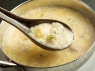 軽めのお昼に! 牛もつの絶品スープでつくる『あっさり雑炊』
