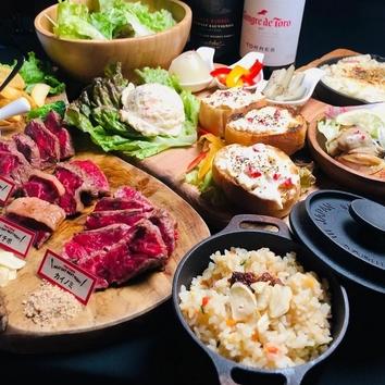 <平日限定>赤身肉3種盛りコース 3,000円