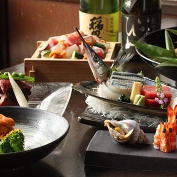 会席「鳥取三昧」…鳥取の食材をふんだんに使用!