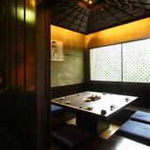 人気の個室『囲炉裏の間』 8名様向け、正方形型の堀座敷個室