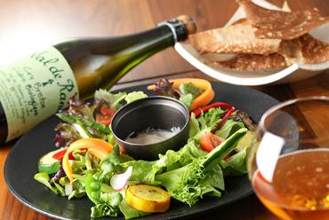 自然の恵みをそのままに『有機野菜の盛り合わせ 豆腐クリームとそばのクリュスティアンと一緒に』