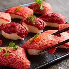 メインには肉寿司や肉盛りプレート♪肉尽くしコース◎がっつり肉食派に人気のコース!