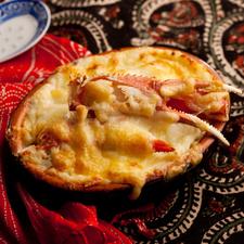 ズワイ蟹と餃子のチーズたっぷりラザニア