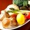 産直野菜の鉄板焼き