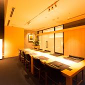 落ち着いた個室・半個室が3部屋あり、接待や商談、ご会食に最適