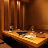 特別な空間で味わう至極の牛肉とお酒。上質なおもてなしが可能
