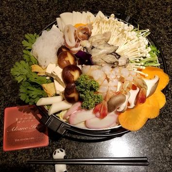 旬の海鮮鍋+和牛しゃぶしゃぶ+和牛握りコース