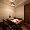 贅沢な個室カウンター、お座敷個室などプライベート空間をご用意