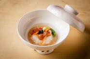 高級食材も多数!『季節の土鍋ごはんと厳選素材の天ぷらコース』 ※季節に応じて、食材が変わります。