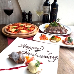 当店の味をお手軽価格で愉しめるコース。 AKITO自慢の石窯焼きピザもご提供します!