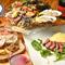 多彩な料理を味わえるシェアコースが人気。飲み放題オプションも