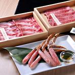 店舗でカットする肉や、吟味を重ね買い付けをしている野菜