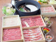 温野菜にラムしゃぶが新登場! 生姜とにんにくの風味を程よく効かせた専用のタレでお召し上がりください!
