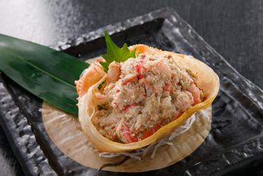 北海道直送のカニを味わい尽くせる『カニとカニ味噌とも和え』