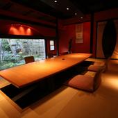日本文化の良さを感じさせる空間で、ワンランク上のおもてなし