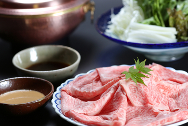 肉の旨味を堪能できる『しゃぶしゃぶ』