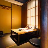 全室個室の濃密で上質な空間で深まる二人の絆