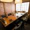 接待や会食にぴったりの個室・半個室席を用意。特別な一席に
