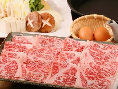 とろける旨みを堪能する『極上黒毛和牛ロース(A5)』※前菜・野菜セット・玉子・うどん・デザート付