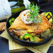 チキンとジャガイモのオーブン焼きローズマリー風味