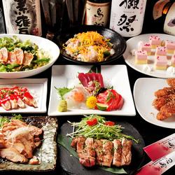 当店自慢の鶏料理を贅沢に味わう恵那鶏使用の豪華コース。こだわりの逸品を集めました。