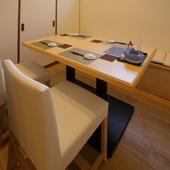 格式を大切にしたい接待に相応しい、洗練された和の個室