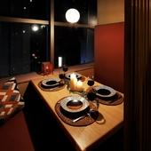 ロマンチックな街の灯りと共にお食事を満喫